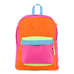 Multi colored Fashionable Kids Sports Backpack for Girls , Orange / Red / Blue