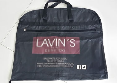 Zippered Garment Bags With Pockets / Cloth Garment Bags , Fold Up Garment Bag