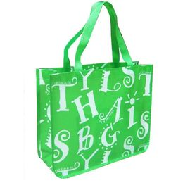 Custom Printed Lamination Non Woven Shopping Bag Personalized Beach Bags,