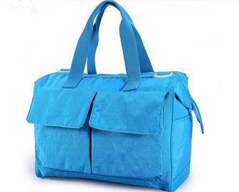 Blue Recycle Pretty designer Baby Diaper Bags , Baby Nappy Changing Bag