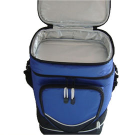 Two Compartment Insulated Picnic Bag PEVA PVC Cotton Food Container