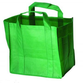 Customized Green Non Woven Grocery Bags with Silk Screen Printed Logo