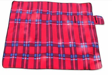 Red Outdoor Camping Mat Waterproof Picnic Blanket Polyester Sponge Material