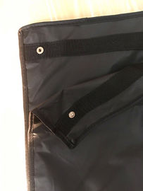 Clips Suit Garment Bag Travel Black Peva Printed Webbing Handles 100*60 cm Size
