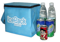 Portable Nonwoven Insulated Cooler Bags For Promotional , Grey / Blue