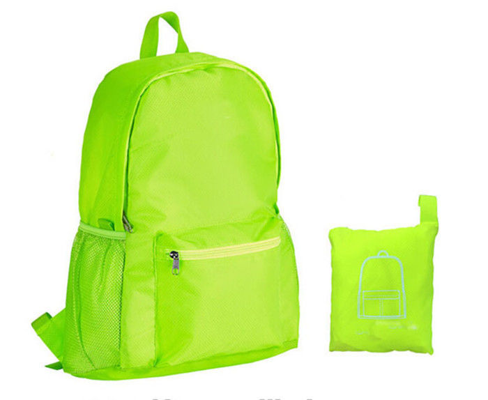 Light Weight Outdoor Sports Backpack Daily Folding Casual 600D Polyester  With Pu Coating faf11366e3425