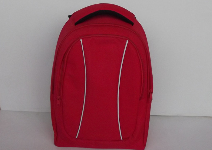 Casual Red 600D Polyester Backpack , Unique Backpacks for College 30L  Capacity
