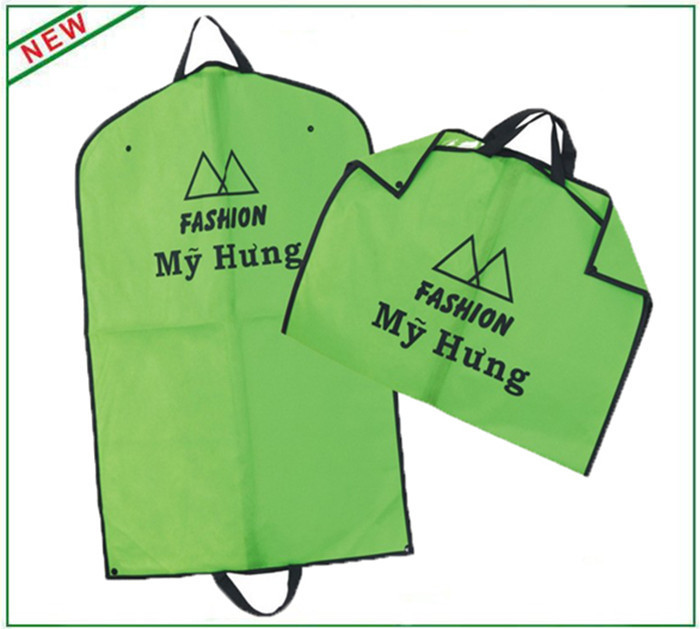 Colored Foldable Suit Protector Garment Bag With Buttons And Webbing Handles