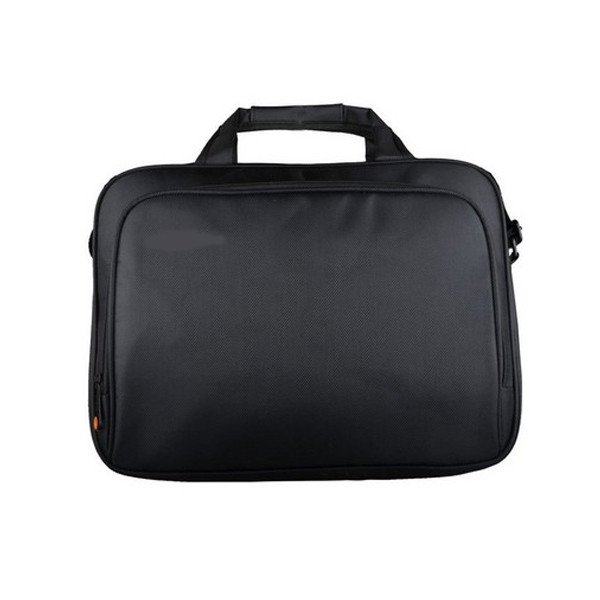 Single Shoulder Lightweight Black Laptop Bag 16 inch Heat Transfered Printing