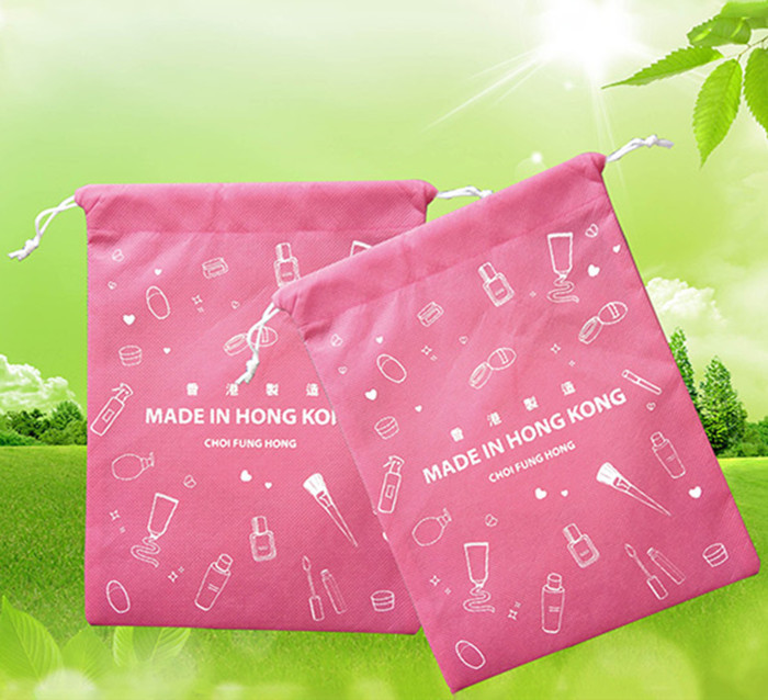 Advertising Promotional Gift Bags , 210D Polyester Drawstring Bag