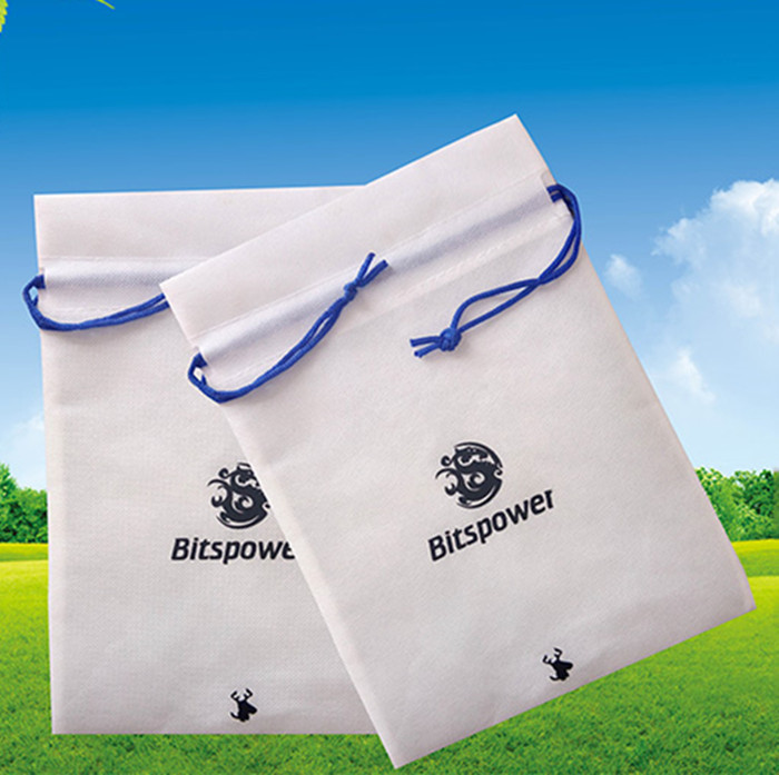 Promotional Drawstring Bags Soft-Loop Handle Style Silk-Screen Printing