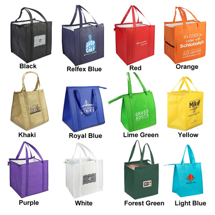 35*22*30 CM Size Insulated Picnic Bag Non Woven With 2Mm Aluminum EPE