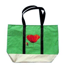 China Customized Green Non Woven Grocery Bags with Silk Screen Printed Logo factory
