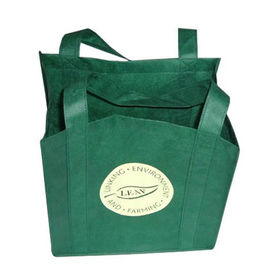China Reusable Non Woven Carry Bags Promotional Gift Totes in Green Purple factory