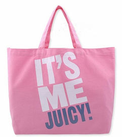Pink Printed Canvas Tote Bags Ladies Cotton Handbags for Ladies Supermarket