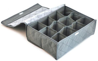 PP Non Woven Clothes Storage Boxes / Underwear Storage Organizer 12 Compartment