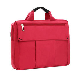 Polyester Durable Laptop Tote Bags for Women , Red / Grey Business Laptop Bags