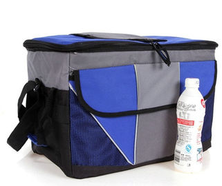 Disposable Blue Cooler Insulated picnic bag Lunch Bags OEM / ODM For Men