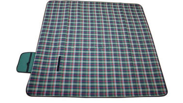 Tartan Outdoor Folding Picnic Mat , OEM Foldable Picnic Mat Rectangular Shape