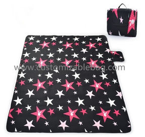 Portable Picnic Mat Outdoor Leisure Popular Fashion Blanket Black Blue