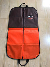 Handle Suit Garment Bag Travel Colored Non Woven Printed With Clips 115*60 cm Size