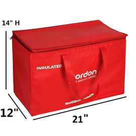 Zipped Promotional Cooler Bags  In Non Woven And 2Mm Aluminum Epe