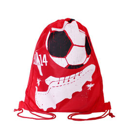 China Full Side Printed Polyester Drawstring Backpack , Outdoor Gym Sports Backpack factory