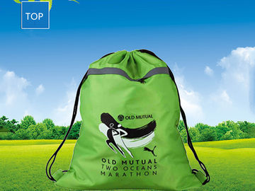 China Personalized Advertising Drawstring Backpack W35*H47Cm Silk-Screen Printing factory